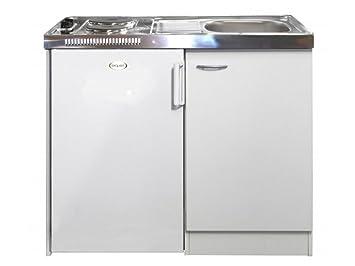 Miniküche Mit Kühlschrank Und Ceranfeld : Smartmoebel pantry küche weiß 100cm miniküche mit kühlschrank