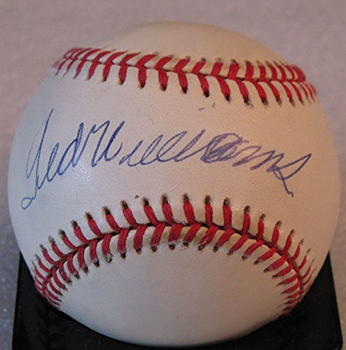 ted-williams-signed-auto-upper-deck-baseball-red-sox-udl-19894