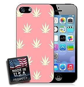 Pink Pot Weed Marijuana Leaf iPhone 5/5s Hard Case
