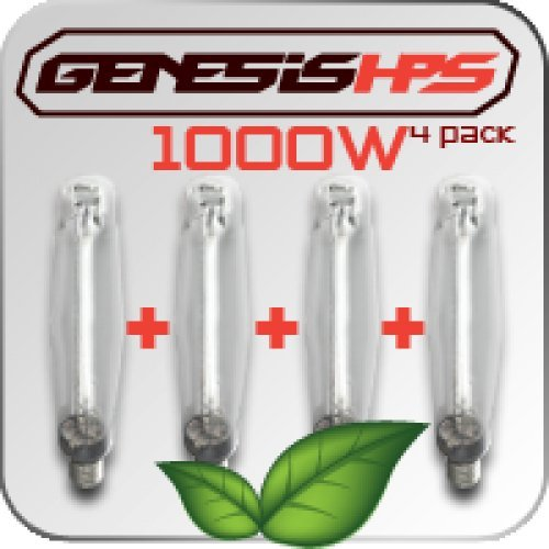 Genesis 1000 Watt HPS Bulb 4 Pack - Illuminati 4 Light