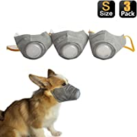 Yeebline Dog Respirator Mask, 3-Pack Adjustable Breathable Dog Protective Muzzle Pet Mouth Cover Mask to Protect Pets…
