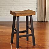 Glasco Solid Wood Two-tone Tall Bar Height Stools, Set of 2 Review