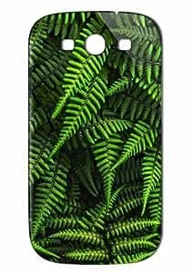 Case Fun Samsung Galaxy S3 (I9300) Case - Vogue Version - 3D Full Wrap - Ferns