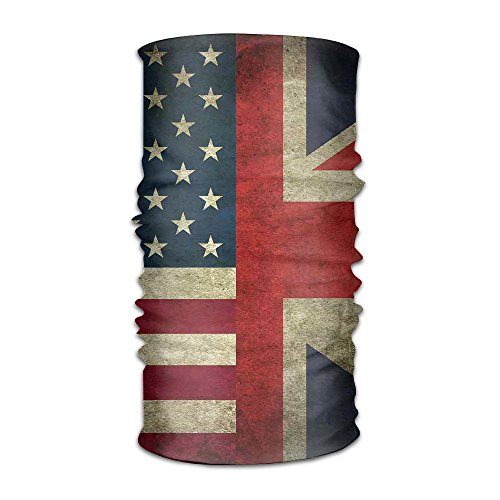 Headwear US UK Flag Multifunctional Headbands Outdoor Magic Scarf As Sport Headwrap,Sweatband,Neck Gaiter,Tube Mask,Face Bandana ()