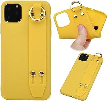 Funda para iPhone 11 Pro Max, Carcasa Funda con Correa para la Muñeca, Funda Protectora con Soporte Plegable Cubierta Silicona con Correa de muñeca Case Cover (Amarillo): Amazon.es: Bricolaje y herramientas