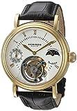 Akribos XXIV Men's AKR493YG Genuine Mechanical Tourbillon Moonphase Watch