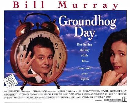 Resultado de imagen para groundhog day poster