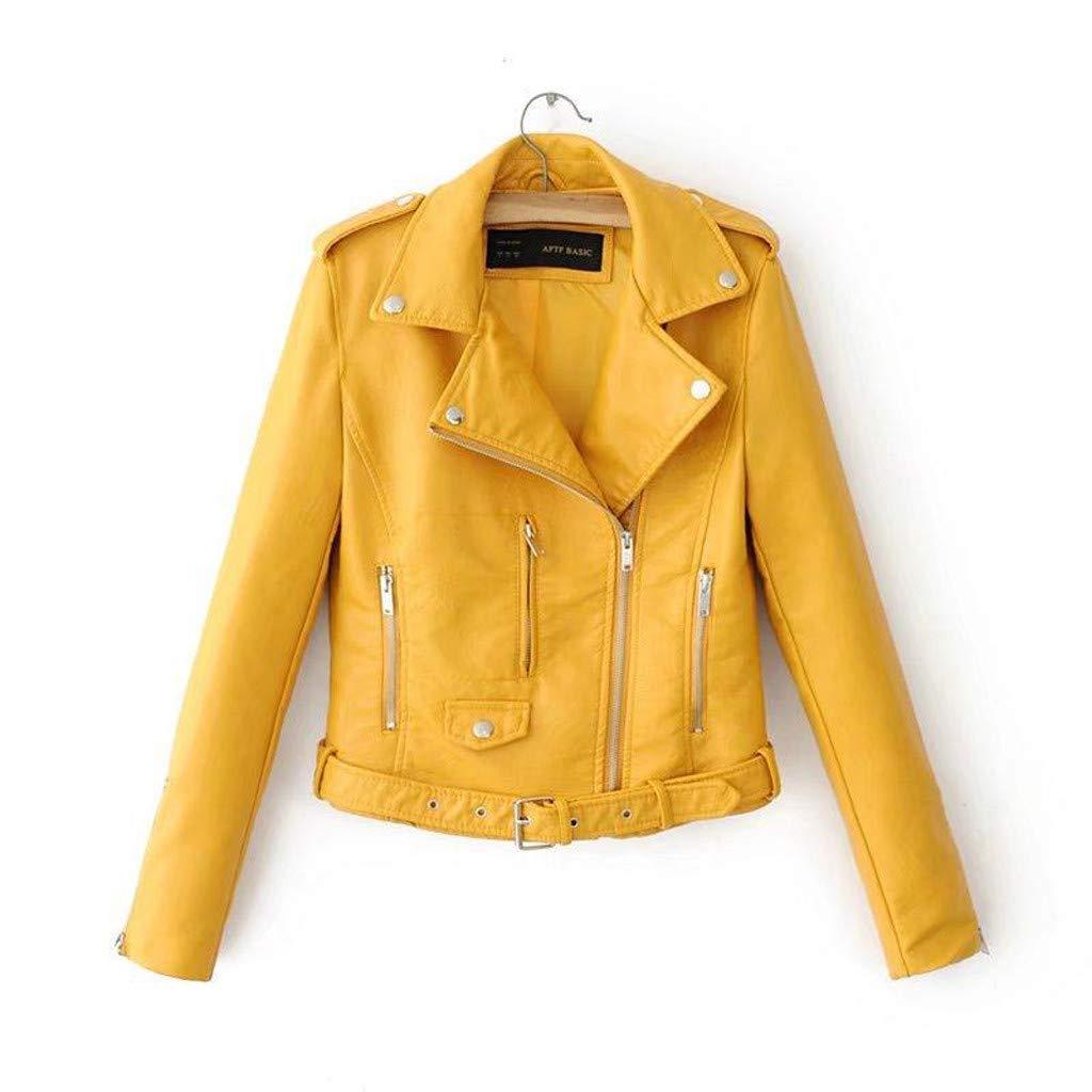 Soft Fleece with Classic Fit Ladies Lapel Motor Jacket Coat Zip Biker Short Punk Cropped Tops Alueeu Womens Jacket