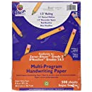 "Pacon Multi-Program Handwriting Paper, 8""X10 1/2"", D'Nealian (Grades 2&3), Zaner-Bloser (Grade 2), 500 Sheets, White"