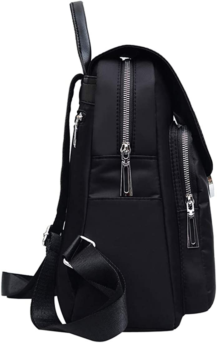 Qyoubi Womens Black Fashion Backpack Casual Daypacks Tassel Waterproof Anti-theft Girls Multipurpose Travel Bag