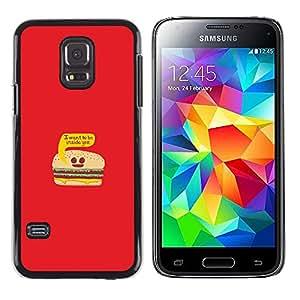 EJOY---Cubierta de la caja de protección la piel dura para el / Samsung Galaxy S5 Mini, SM-G800 / --La vida de la hamburguesa