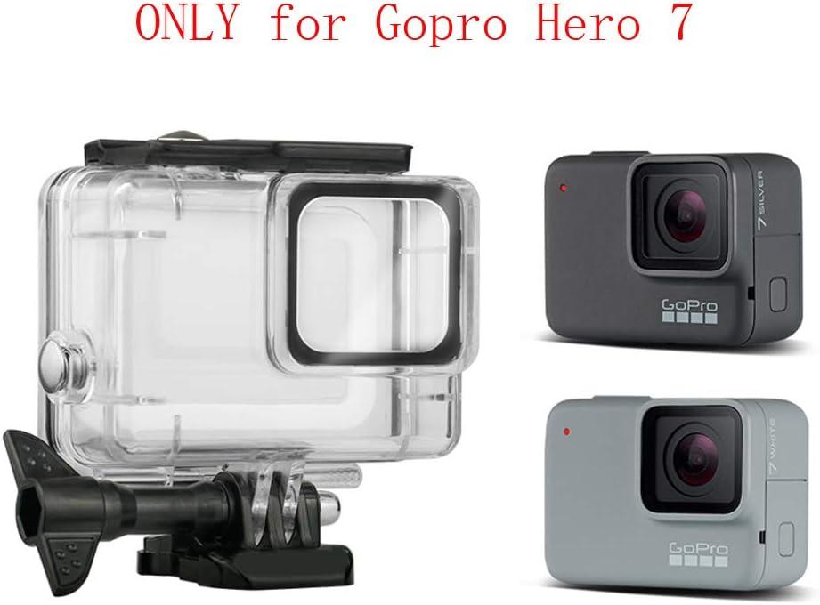 Kupton Carcasa para Gopro Hero 7 Silver//White Case de Buceo Impermeable Protectora Sumergible hasta 60 m para Go Pro Hero7 Silver//White