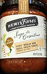 HemisFares Fiery \'Nouja and Basil Pasta Sauce 15 oz (Pack of 2)