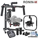 DJI Ronin-M Kit - (Version 3) - Includes Remote Controller, 2 Batteries, Ronin-M Handheld Grip Kit, Magnetic DJI Lapel Pin and more