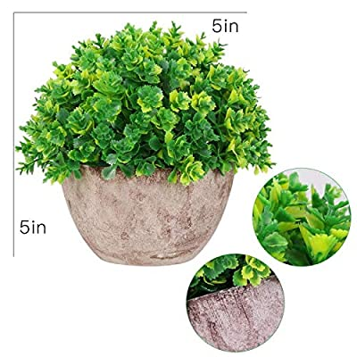 AmyHomie Artificial Plant Potted Fake Plant Artificial Faux Greenery Plant for Home Office Decor