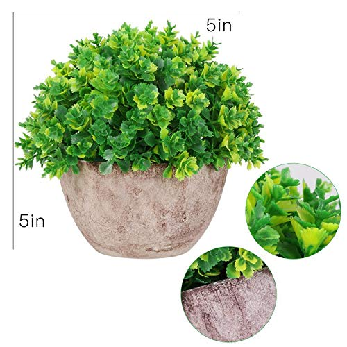AmyHomie Colorful Artificial Plants Fake Plants Potted in Retro Flowerpot Artificial Greenery Faux Greenery Plant for Home Office Decor