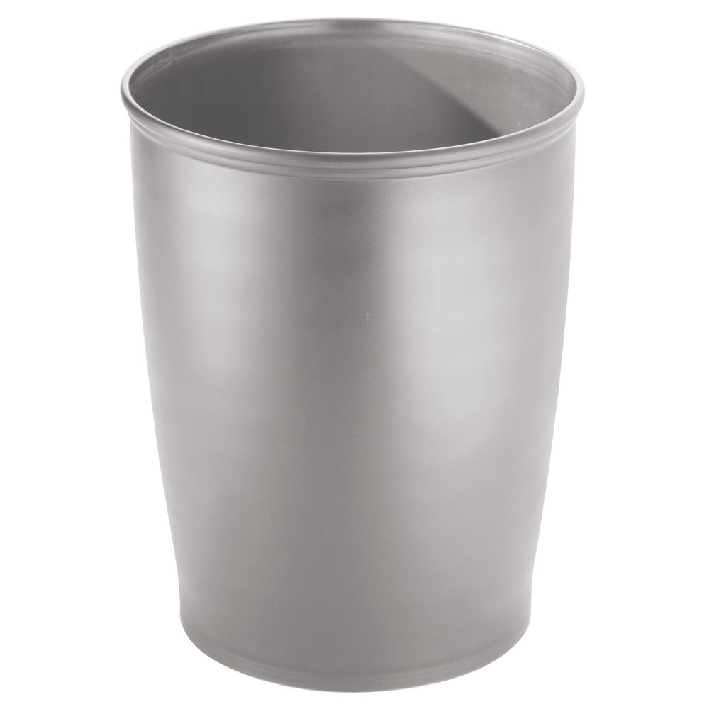Silver Kitchen or Office 9.5 x 12 inches 93426 InterDesign Kent Tall Trash Can for Bathroom