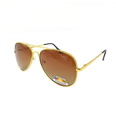 c12988a7440 Polarized Gold Brown Sunglasses   Cloth Case Uv400 Designer Mens Ladies  Shades by ASVP Shop  Amazon.co.uk  Clothing
