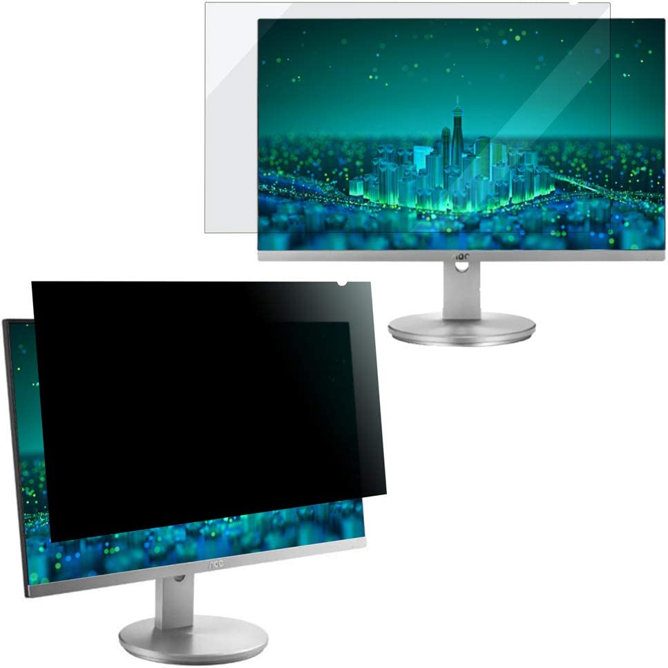 "Ogakey Privacy Screen Filter for 21.5 Inches Desktop Computer Widescreen Monitor with Aspect Ratio 16:9, Anti Glare and Anti Blue Light Protection (21.5"" Widescreen-16:9)"