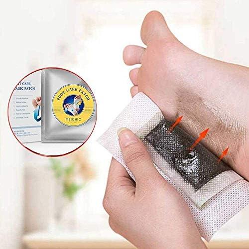 Fußpflege Magie-Flecke, Fußpflege Magie Patch-Patches Reinigung Detox-Fuss-Auflage, Schlafen & Anti-Stress Relief (1 Kasten) (Color : 10boxes)