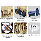 Large Willow Picnic Basket with Deluxe Service
