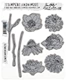 Stampers Anonymous Tim Holtz Cling Rubber Flower