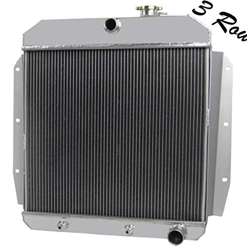 Chevy Suburban Truck Radiator - ALLOYWORKS 3 Row Core Aluminum Radiator for Chevrolet Apache Truck for Chevy Truck Pickup Suburban Panel 1956 1957 1958