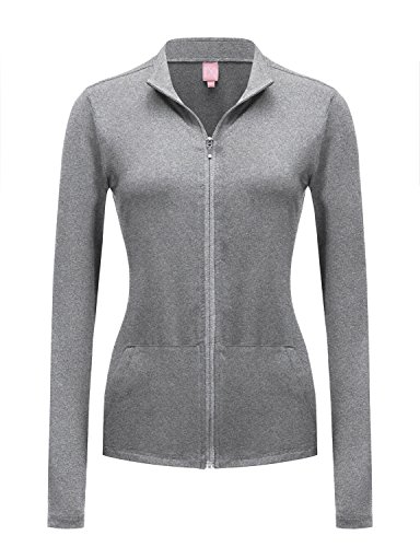 REGNA X NO BOTHER Women's Full Zip Up Stretchy Workout Dri-Fit Yoga Track Jacket