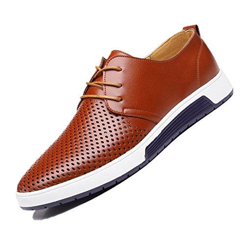 Brown scamosciato casuale particolarmente 48 PU Extra Uomo scarpe stile Bebete5858 Uomini Dimensione Pelle Grande Inghilterra xq0nBfAgw6