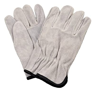 G & F 6050XL-3 Premium Split Cowhide Leather Straight Thumb Work Gloves, Drivers Gloves, 3-Pair, X-Large