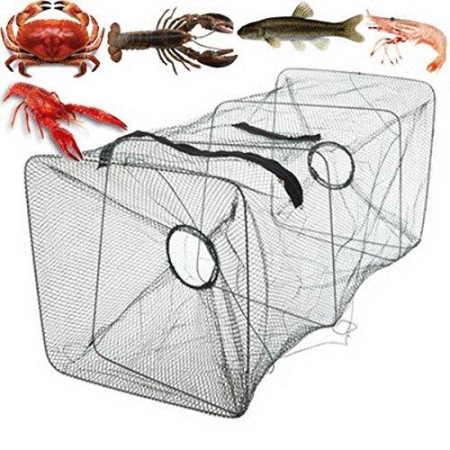 ASDOMO Foldable Fishing Net Trap and Dip Drift Shrimp Net Cage Crab Trap Crawfish Lobster Shrimp Collapsible Cast Net (green 1pcs)