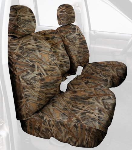 Covercraft Custom-Fit Rear-Second Seat Bench SeatSaver Seat Covers - Polyester Fabric, Flooded Timber