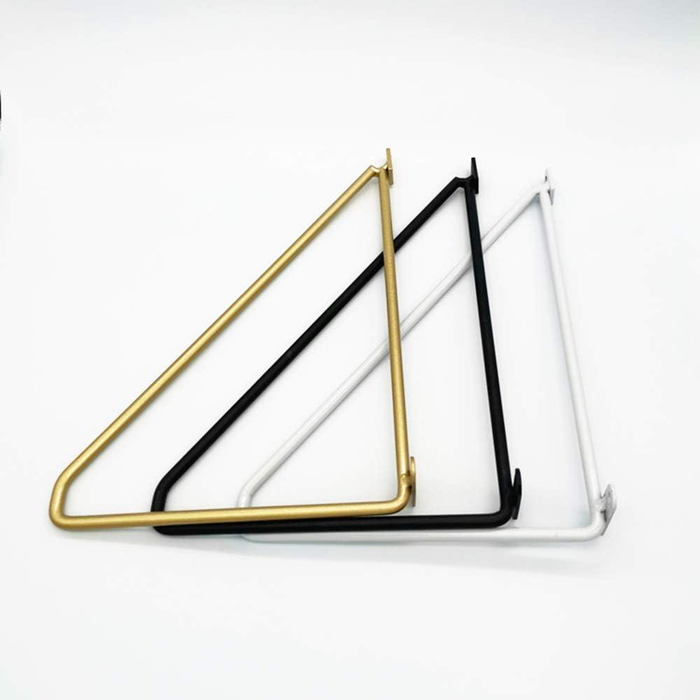 OWUV Soporte Triangular Negro Estantes Escuadras Decorativo Soporte para Estanter/ías Metal Cocina Bar ba/ño Soportes Estantes 2 Piezas Puesto de Flores Soporte de /ángulo Recto de 90 Grado T