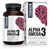 Cheap Alpha Omega 3: Omega 3 EPA & DHA with 95% Absorption Rate & Zero Burps– 4.5 Times More Effective Than Fish Oil – Plus Contains Astaxanthin, L-Lysine, Vitamin D3 & Vitamin B12