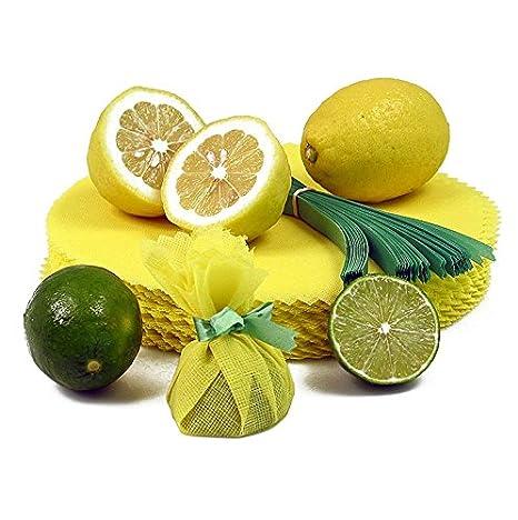 SPICEWORLD The Original Lemon Wraps - Limón Servir paño, Amarillo ...