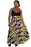 African Planet Women's Paisley Print Wax Skirt Inspired Wrap Around Waist Maxi