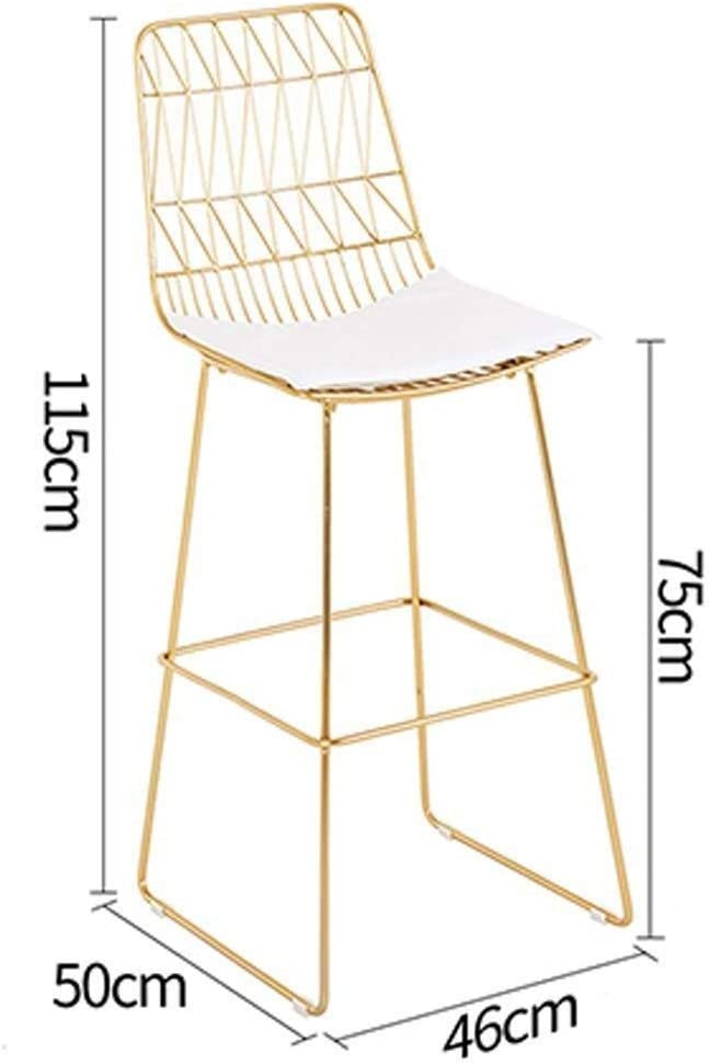 Tll-mm Desk Chairs,Barstools Bar Stool Chair Breakfast Kitchen Counter European Modern with Footrest ; Back 75Cm(29.52