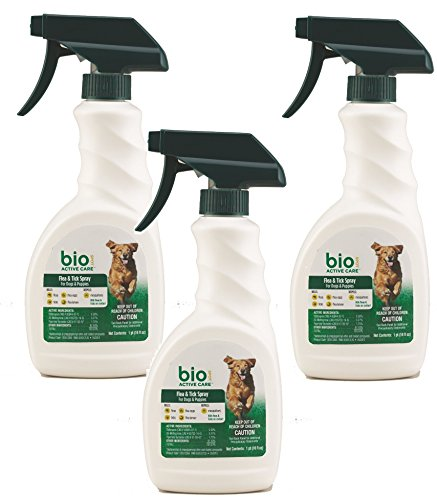 Bio Spot Active Care Flea and Tick Dog Spray 16oz Bottles (3 Pack) by Bio Spot