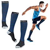 Compression Socks - Graduated Compression Performance, Relieves Swelling - Dress Socks - Best For Running, Athletic Sports, Travel & Crossfit - New Design, (1 Pair)