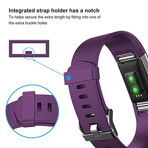 Humenn Bands Compatible with Fitbit Charge 2, 3 Pack Classic & Special Edition Replacement Bands for Fitbit Charge 2, Women Men 5