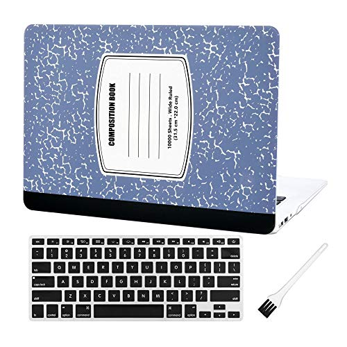 Plastic Rubberized Keyboard Notebook Pattern Light