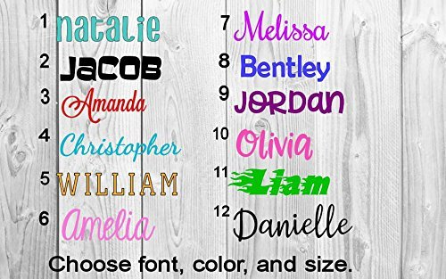 Name or Word Decal - Personalized - Solid and Glitter Colors