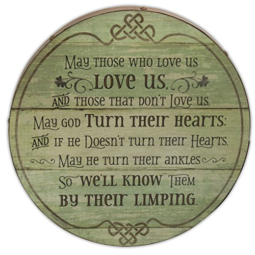Abbey Gift Irish Blessing Barrel Plaque