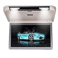 Roverone 13.3 Pouces 1080p Overhead Toit de voiture moniteur TFT avec HDMI SD USB IR FM Haut-parleur Flip Down lecteur Couleur beige