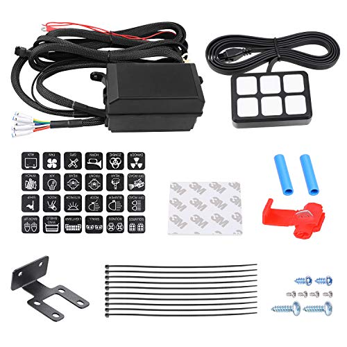 6 Gang Switch Panel Kit, Auto Power Plus Circuit Control Box Relay System Universal ON-OFF Touch Switch Box for Car Marine Boat ATV UTV Truck ()