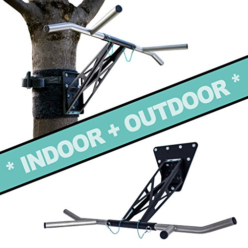 PULLUP & DIP Indoor & Outdoor Pull-up bar (Indoor + Outdoor Package (Wall and Tree/Post - Up Pull Portable Station