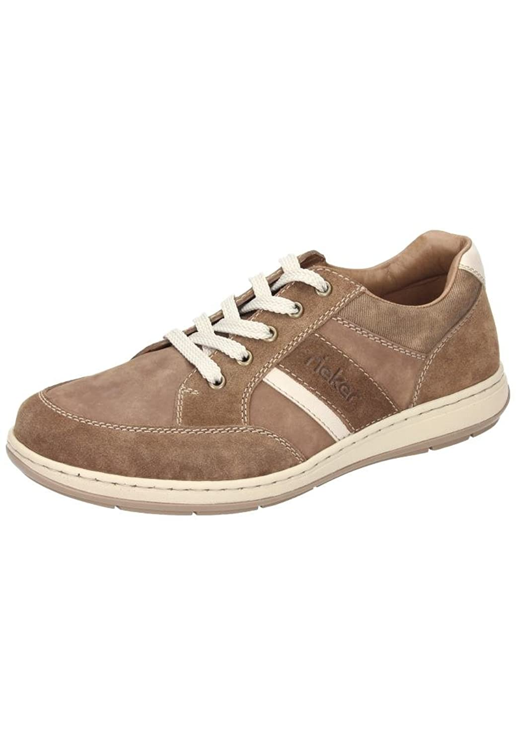 Rieker unisex lace up shoe brown/chalk