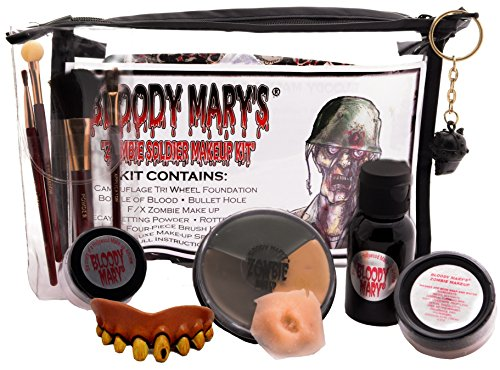 [Bloody Mary Zombie Soldier Professional Undead Makeup Kit] (Zombie Soldier Costumes)
