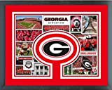 Georgia Bulldogs Photo Collage Matted & Framed 12.5'' x 15.5''