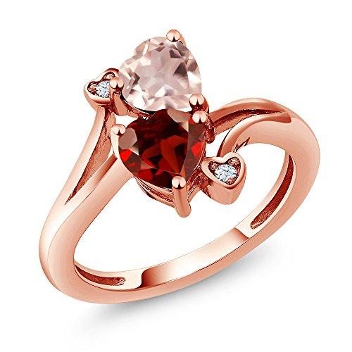 Heart Shape Garnet Ring - 4